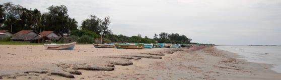 Nilaveli Beach and boats in Trincomalee Sri Lanka Royalty Free Stock Images