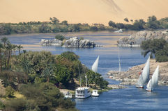 The Nile. One of the cataracts on the river Nile near Aswan, Egypt stock photos