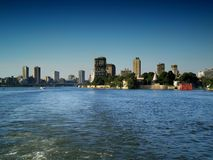 The nile. The river Nile in Cairo from a ship Royalty Free Stock Photos