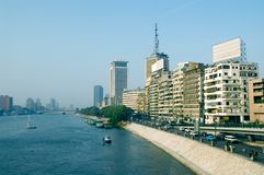 Nile. Great Nile river, Cairo, Egypt stock photography