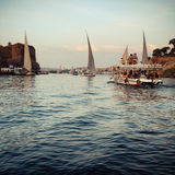 Nile. The beautiful river Nile. Taken in Aswan, Egypt Stock Image