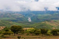 Nile azul em Etiópia Imagens de Stock