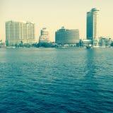 Nile Cairo Arkivfoto