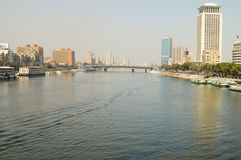 The Nile - Cairo. The Nile in Cairo - Egypt Stock Image