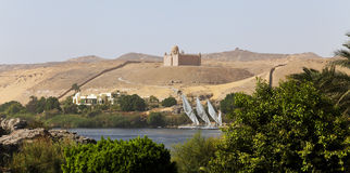Nile and castle in the background Royalty Free Stock Image