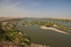 Nile Cataract supérieure au Soudan Photos libres de droits