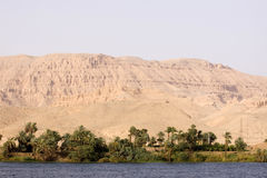 Nile cruise. View of the banks of the river during nile cruise in egypt stock photography