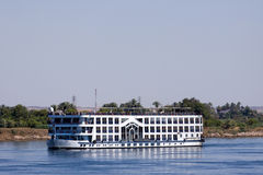 Nile cruise. A passenger boat during the cruise of the nile in egypt stock images
