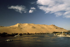Nile and dune Stock Photography