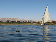 Nile, Egypt. Boat on the river Nile, Egypt Stock Photo