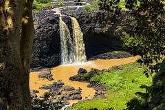 Nile Falls azul, Etiopía Imagen de archivo libre de regalías