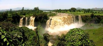 Nile Falls azul, Etiopía (panorama) imagen de archivo libre de regalías