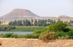 Nile flowing through the Sahara desert. Stock Photos