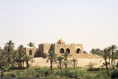 Nile Life. Village on the banks of the Nile River stock image