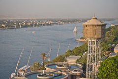 Nile at Luxor, Egypt. View across the Nile in Luxor, Egypt Royalty Free Stock Photos