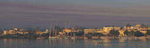 Nile in  Luxor in the evening Stock Photography