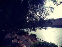 Nile River à Assouan l'île d'usines image stock