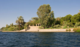 Nile river. Bank, near Luxor, Egypt Royalty Free Stock Images