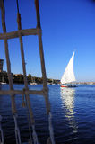 Nile River. At Aswan with Faluka Royalty Free Stock Photography