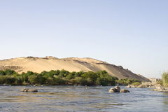 Nile River ,Aswan. West banks of the Nile River royalty free stock images