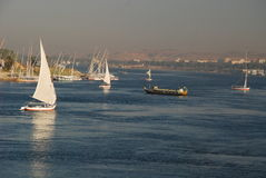 Nile river at Aswan, Egypt Royalty Free Stock Photography