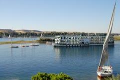 The Nile River - Aswan - Egypt. The Nile River in Aswan - Egypt Stock Photo