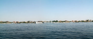 The Nile River Bank. In Egypt Royalty Free Stock Photo