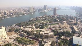 Nile river at Cairo - Egypt - video full HD 1080. From top of Cairo tower Nile river at Cairo Egypt - video full HD 1080 , June 2015 stock video footage