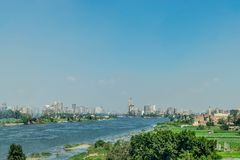 Nile River in Cairo, Egypt stock image