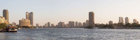 Nile river and Cairo skyline Royalty Free Stock Image