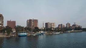 Nile River Cruise en El Cairo Egipto almacen de metraje de vídeo