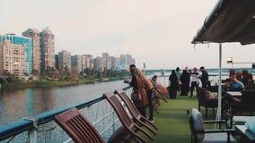 Nile River Cruise en El Cairo almacen de metraje de vídeo