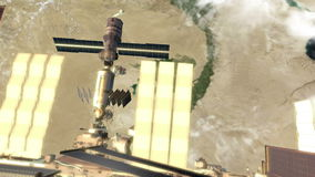 Nile River e la Stazione Spaziale Internazionale video d archivio