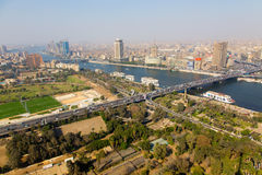 Nile River - Egypt. View of Cairo from Cairo Tower, Egypt Royalty Free Stock Photography