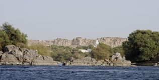 Nile River house,Aswan Royalty Free Stock Image