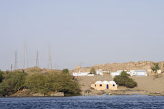 Nile River houses,Aswan Royalty Free Stock Image