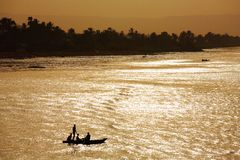 Nile river landscape, Egypt Royalty Free Stock Photography