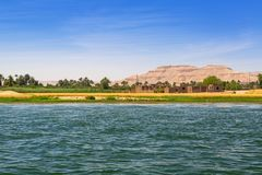 Nile river scenery near Luxor. Egypt Royalty Free Stock Photography