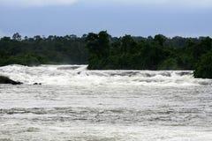 Nile River , Uganda, Africa. Nile River - Bujagali Falls + River in Uganda - The Pearl of Africa Royalty Free Stock Images