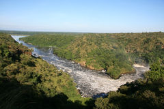 The Nile River, Uganda, Africa. The River Nile, Murchison Falls National Park Safari Reserve in Uganda - The Pearl of Africa Stock Photos