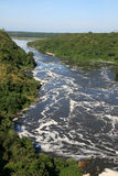 The Nile River, Uganda, Africa. The River Nile, Murchison Falls National Park Safari Reserve in Uganda - The Pearl of Africa Stock Images