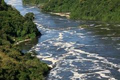 The Nile River, Uganda, Africa. The River Nile, Murchison Falls National Park Safari Reserve in Uganda - The Pearl of Africa Royalty Free Stock Photo