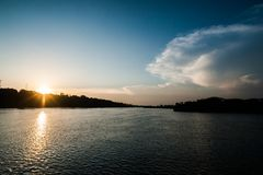 Nile River, Uganda, East Central Africa. Nile River located in East Central Africa. Sub Saharan Afica`s source of the Nile River Stock Photography