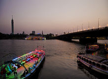 Free Nile River With Boats In Cairo Egypt Stock Image - 34543541