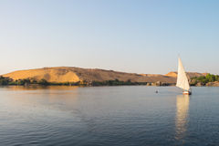 Nile sailing sunset, Egypt Royalty Free Stock Images
