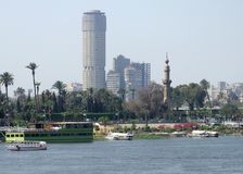 Nile scenery in Cairo Stock Images