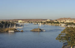 Nile scenery in Egypt at evening time Royalty Free Stock Image