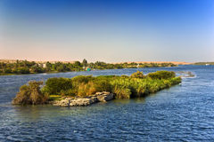The Nile scenery Stock Photo
