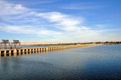 The Nile scenery. This is a panoramic view of a sluice near Esna in Egypt Stock Image