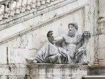 Nile statue. Ancient Roman allegory of Nile River. Campidoglio, Rome, Italy Royalty Free Stock Photo